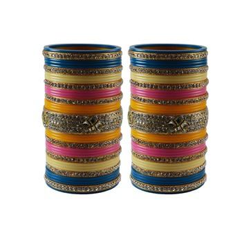 Multi Colour  Stone Stud Acrylic Bangle