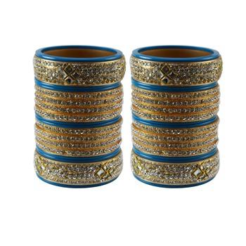 Turquoise Stone Stud Acrylic Bangle