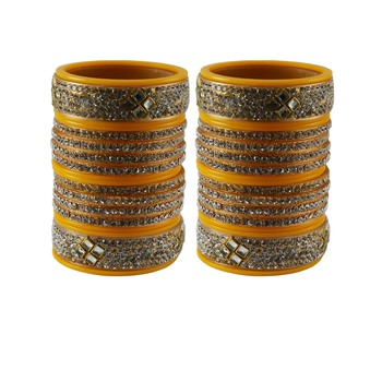 Yellow Stone Stud Acrylic Bangle