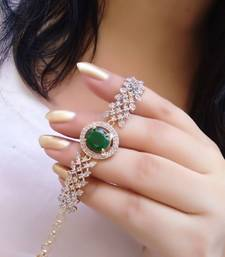 Green diamond bracelets