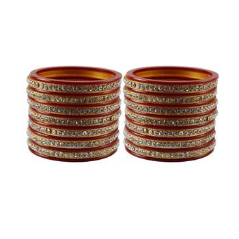 Red Stone Stud Acrylic Bangle