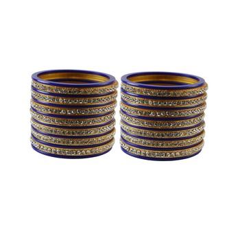 Purple Stone Stud Acrylic Bangle