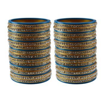 Navy blue Stone Stud Acrylic Bangle