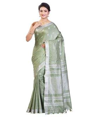 Ash Women's Bhagalpuri Silk Saree With Blouse Piece