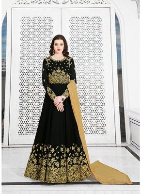 Women's Black Georgette Fancy Designer Suit