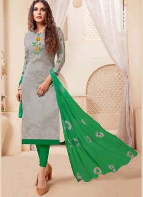 Women's Grey Modal Silk Amzing Designer Suit
