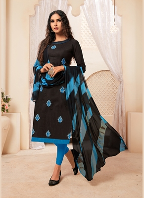 Women's Black Modal Silk Wonderful Designer Suit