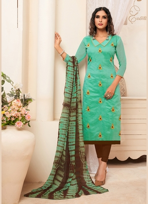 Women's Sea Green Modal Silk Graceful Designer Suit