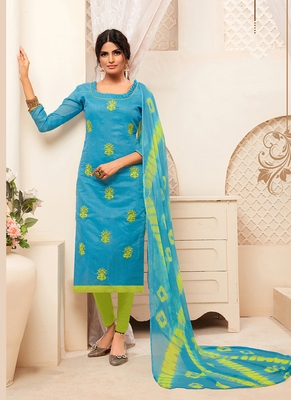 Women's Sky Blue Modal Silk Amzing Designer Suit