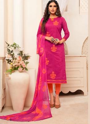 Women's Dark Pink Modal Silk Preety Designer Suit