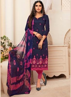 Women's Navy Blue Modal Silk Wonderful Designer Suit