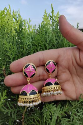 Pink Jhumkas