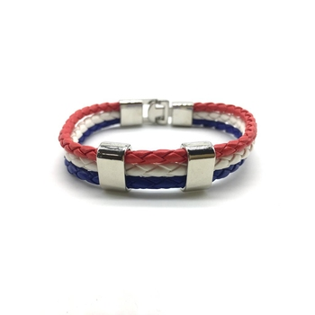 Multicolor Leather Bracelet Titanium Clasp With Magnets Multi Strand Weave Unisex Bracelet Men'S Jewellery