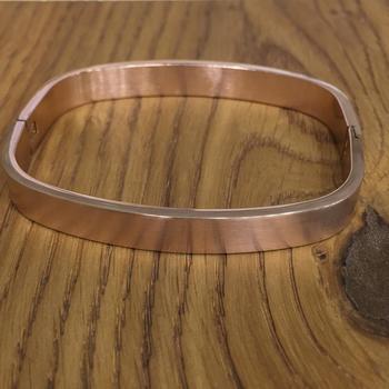 Rose Gold Plated Classical Kada Bracelet Alloy Punjabi Style Multi Strand Unisex Bracelet Men's Jewellery