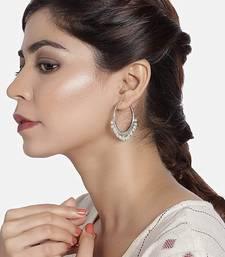 Silver Plated Pearl Chandbali Earring For Women
