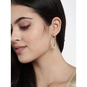 Gold Plated Pearl Chandbali Earring For Women