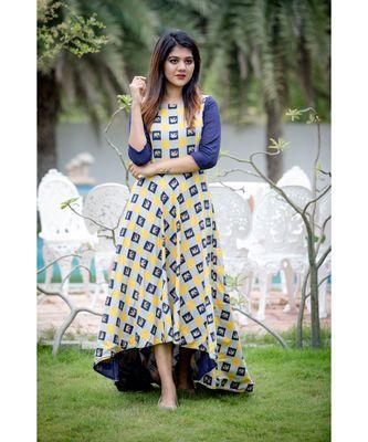 Olivia Yellow High Low Dress
