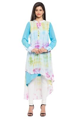 Multicolor Printed Georgette Party Wear Kurtis