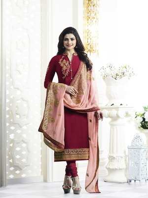 Pink Color Banglori Silk Koti & Top Silk Embroidered  semi stitched salwar with dupatta