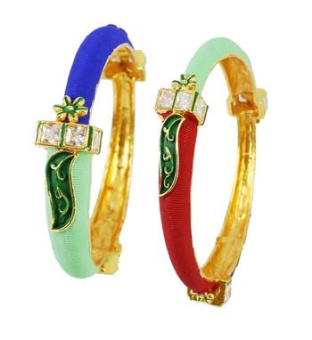 Multicolor Bangles And Bracelets