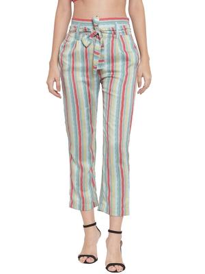 grey plain Rayon trousers