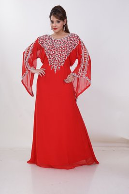 Dubai Kaftan Women Dress Moroccan Caftan Long Farasha Maxi Dress Al190