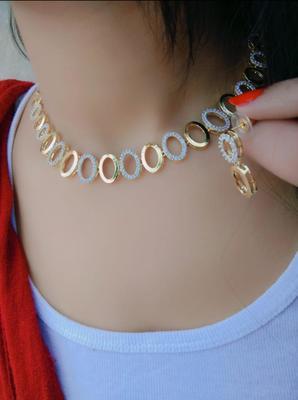 Gold zircon necklaces