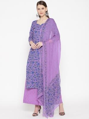 Purple Handblock Print Palazzo Suit Set