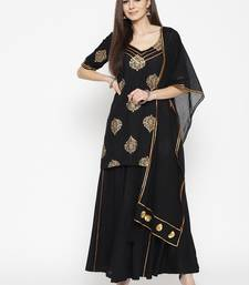 Black Gota Work sharara Suit Set