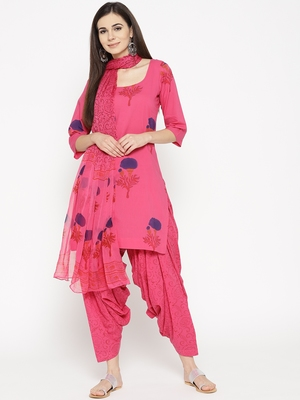 Rani Handblock Print Patiala Suit Set