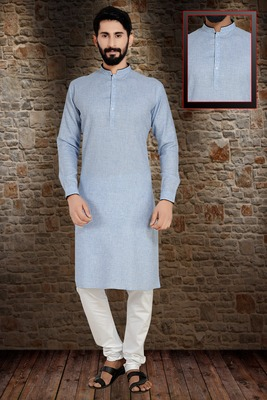 Blue Stylish And  Fancy Embroidery Kurta Pyjama
