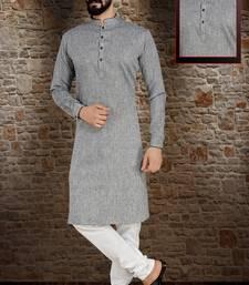Grey Stylish And Fancy Kurta Pyjama