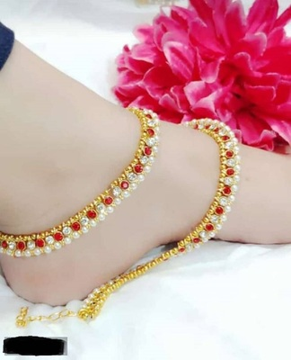 Red diamond anklets