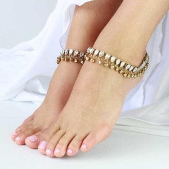 White diamond anklets