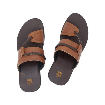 Black Brown Tan Mens Leather Chappal