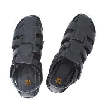 Black Brown Mens sandals