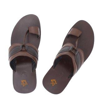 Black Brown Mens Leather Chappal