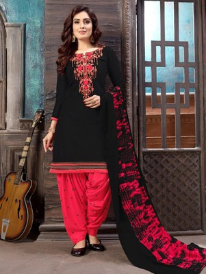 Black Heavy Embroidery Patiala Suit