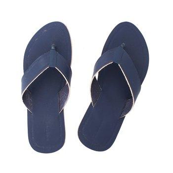 Dark Blue Mens Leather Chappal