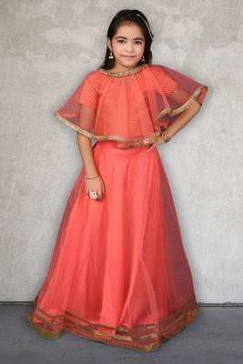 pink Embroidered Chanderi Silk Lehenga Choli Dupatta