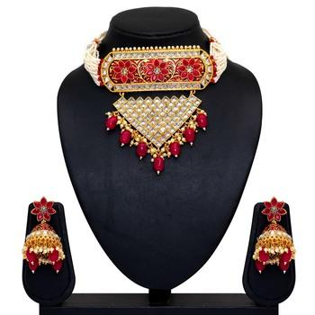 Maroon Necklace Sets
