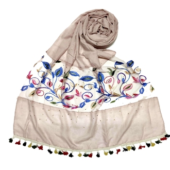Purple Designer Flower Ari Diamond Collection Stole For Women