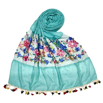 Green Flower Ari Diamond Collection Stole For Women
