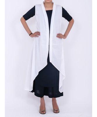 White cotton shrug