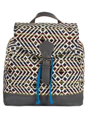 Flock Multicoloured Jacquard Canvas Backpack