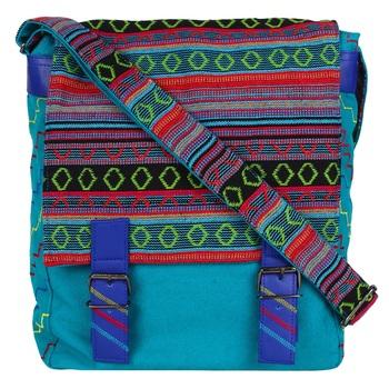 Tracery Blue Jacquard Messenger Bag