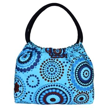 Orb Blue Canvas Shoulder Bag