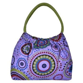 Orb Purple Canvas Shoulder Bag