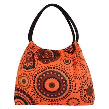 Orb Orange Canvas Shoulder Bag