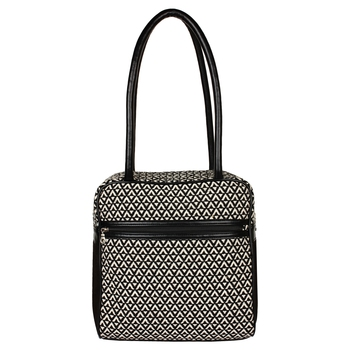 Monochrome Jacquard Black & White Shoulder Bag